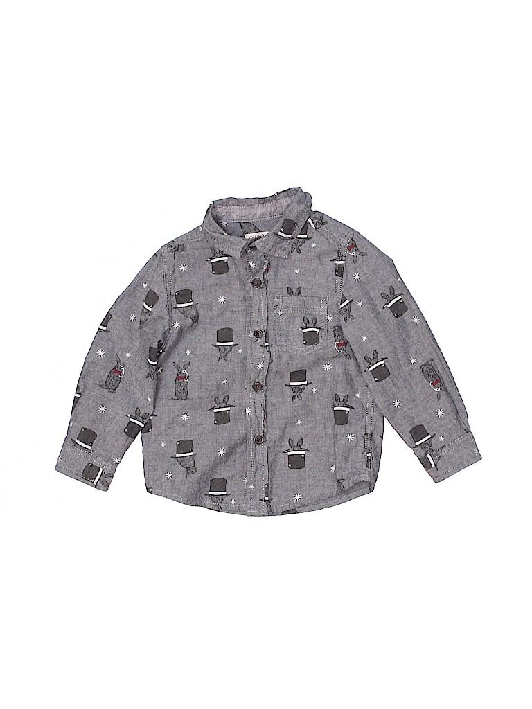 Cat & Jack Boys Long Sleeve Button-Down Shirt Size 2T