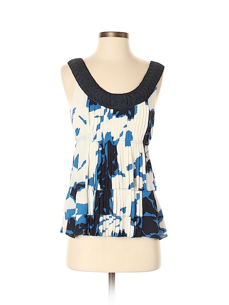 Tory Burch Women Sleeveless Silk Top Size 4