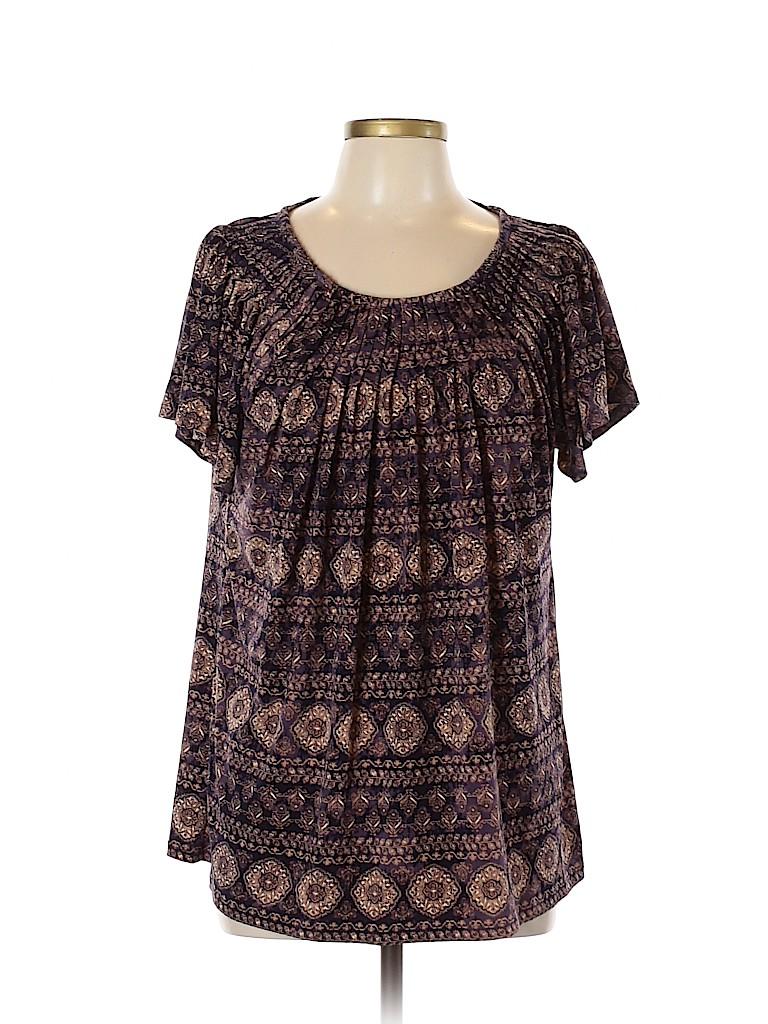 Style&Co Women Short Sleeve Top Size L