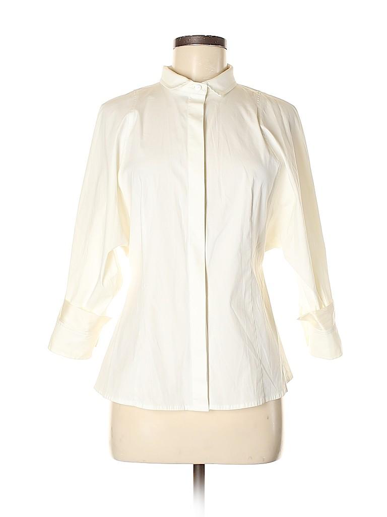 Ellen Tracy Women 3/4 Sleeve Button-Down Shirt Size M