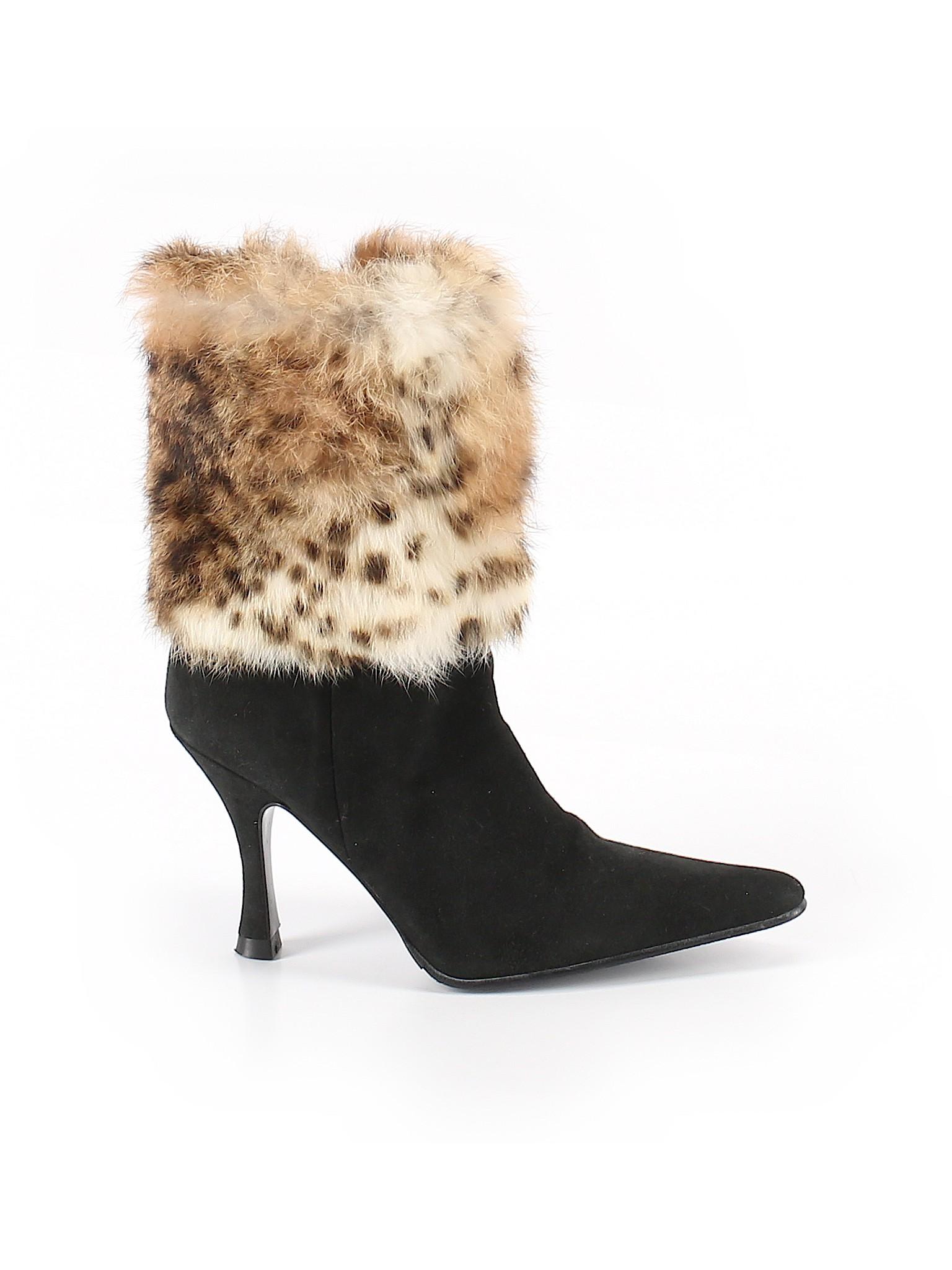 Prialpas Gomma Animal Print Black Boots Size 7 81% off