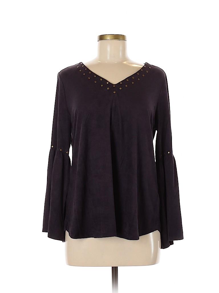 Style&Co Women Long Sleeve Top Size M