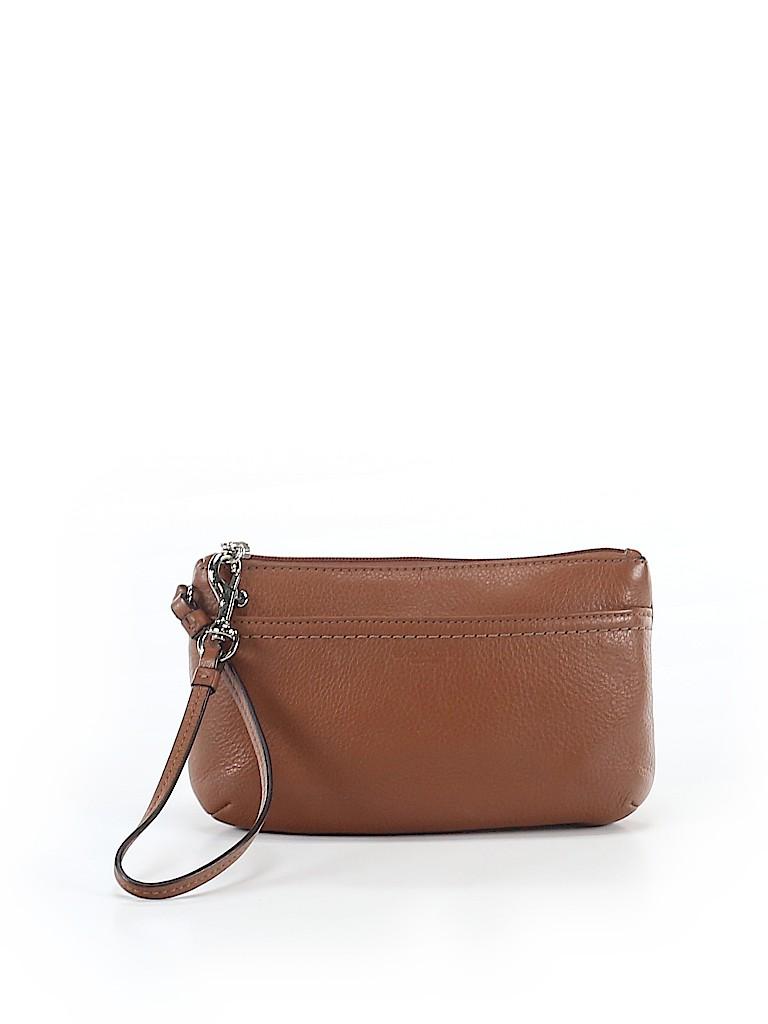Coach Factory Women Leather Wristlet One Size