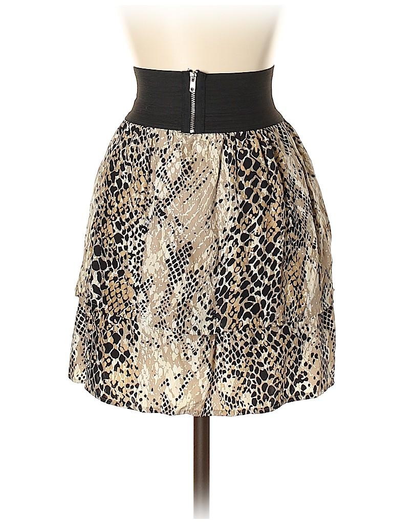 Aqua Women Silk Skirt Size S