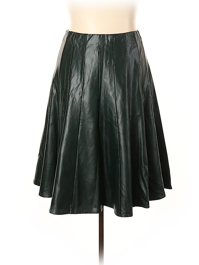 ELOQUII Women Faux Leather Skirt Size 26 (Plus)
