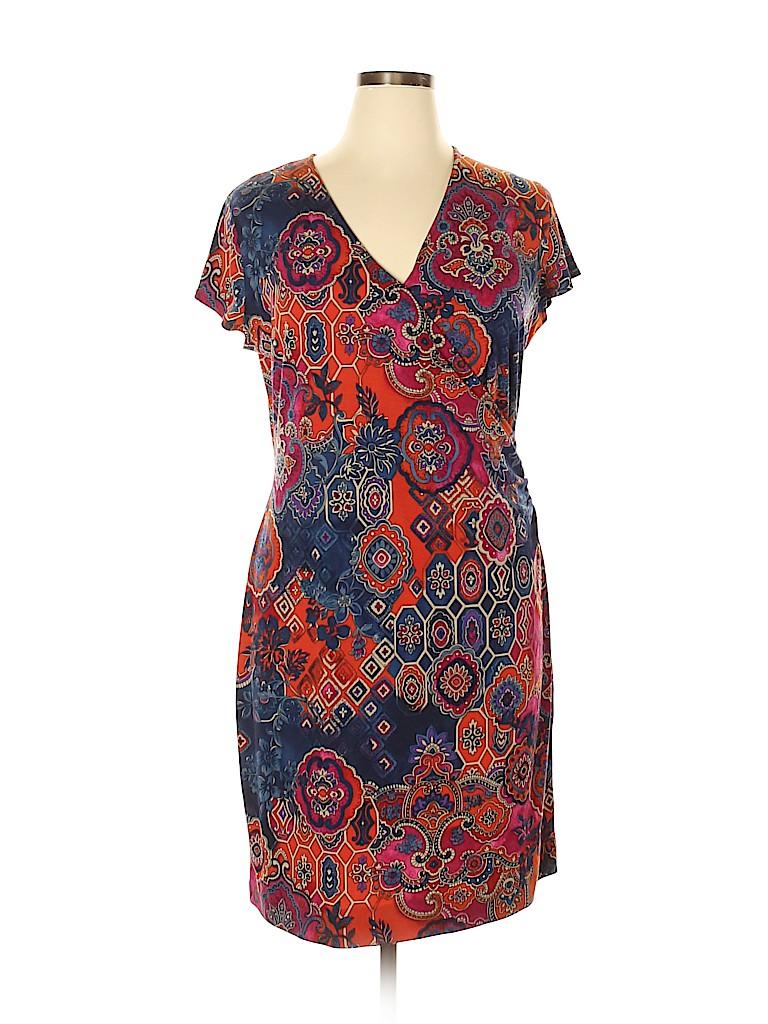Jones New York Signature Women Casual Dress Size XL