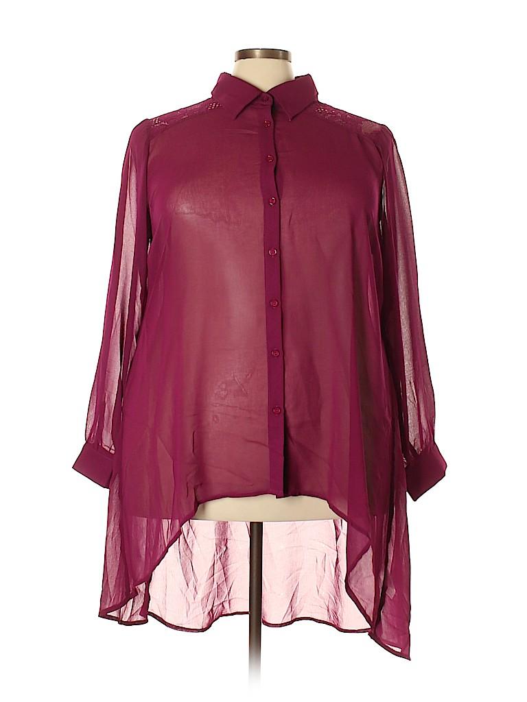 City Chic Women Long Sleeve Blouse Size 22 Plus (XL) (Plus)