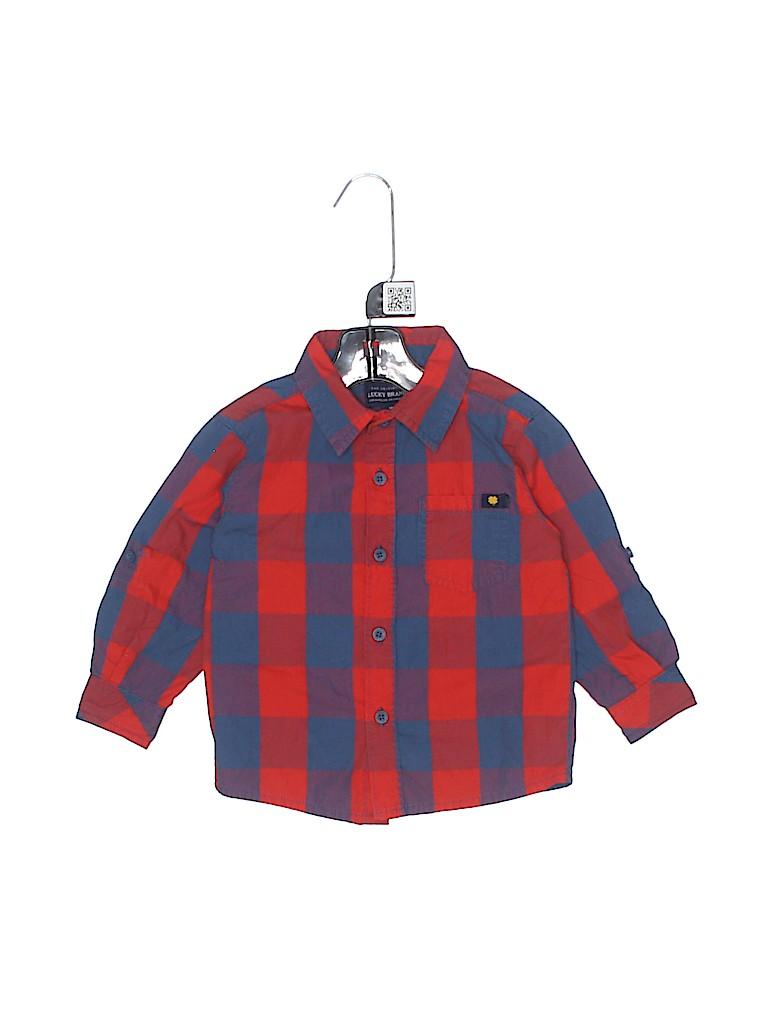Lucky Brand Boys Long Sleeve Button-Down Shirt Size 18 mo