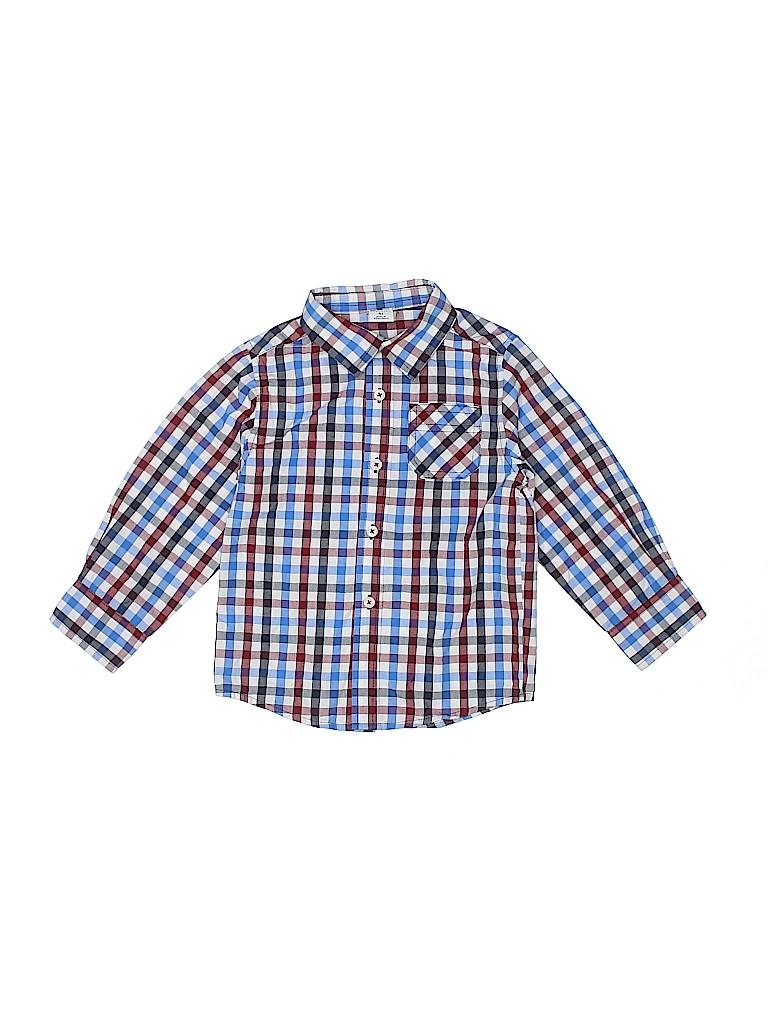 Healthtex Boys Long Sleeve Button-Down Shirt Size 4T