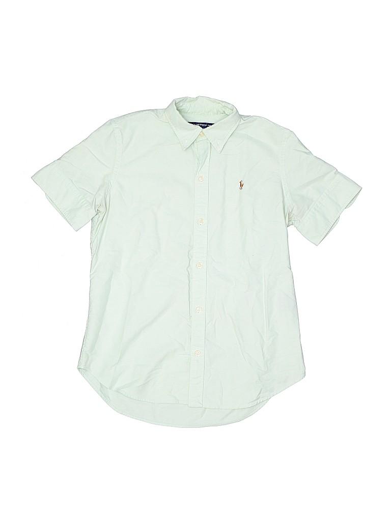 Ralph Lauren Sport Boys Short Sleeve Button-Down Shirt Size S (Youth)
