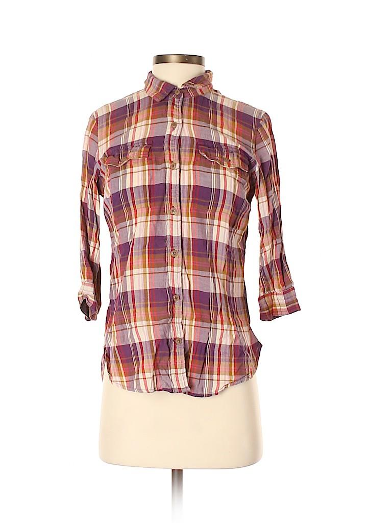 Eddie Bauer Women 3/4 Sleeve Button-Down Shirt Size XS