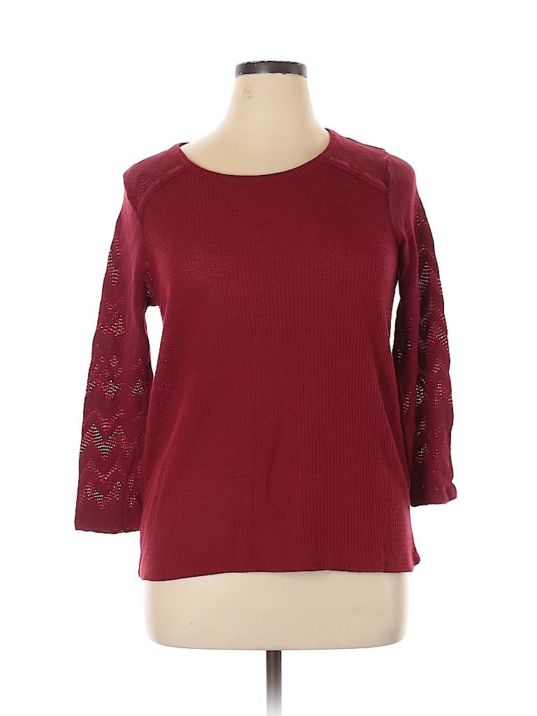 Lucky Brand Women Long Sleeve Top Size 1X (Plus)