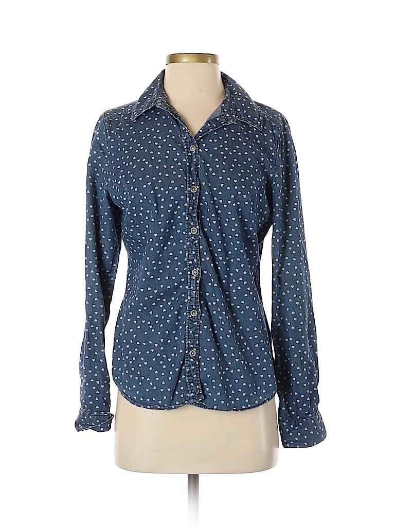 LC Lauren Conrad Women Long Sleeve Button-Down Shirt Size M