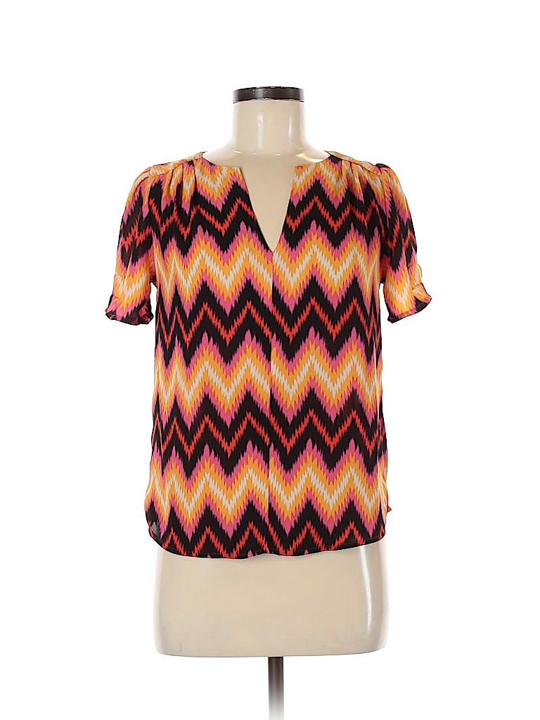 Eclair Women Short Sleeve Blouse Size XS