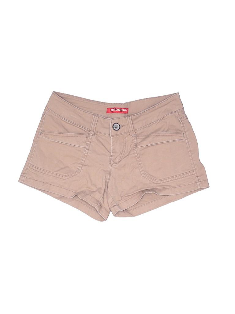 Unionbay Women Khaki Shorts Size 1