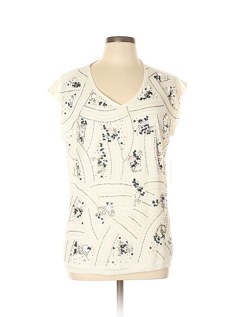 Coldwater Creek Women Short Sleeve Blouse Size 16