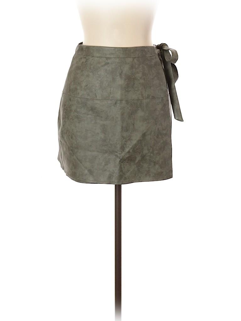 Vanilla Moon Women Faux Leather Skirt Size 10
