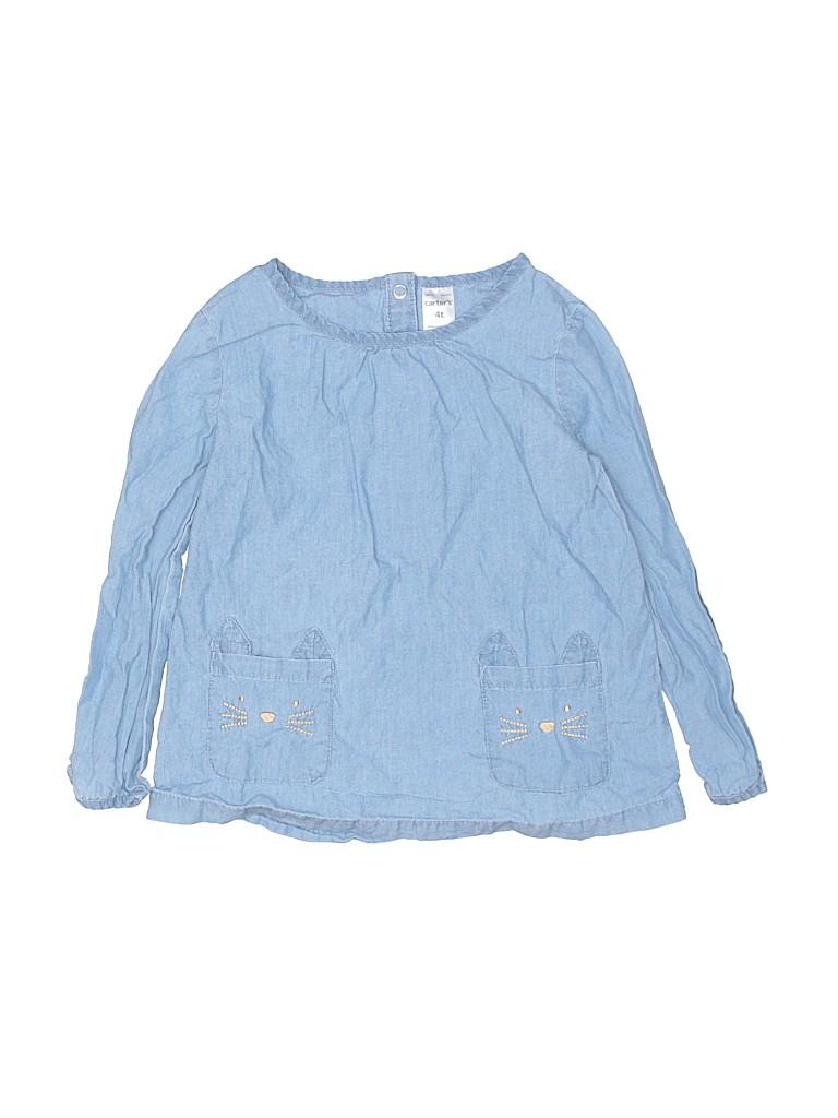 Carter's Girls Long Sleeve Blouse Size 4T