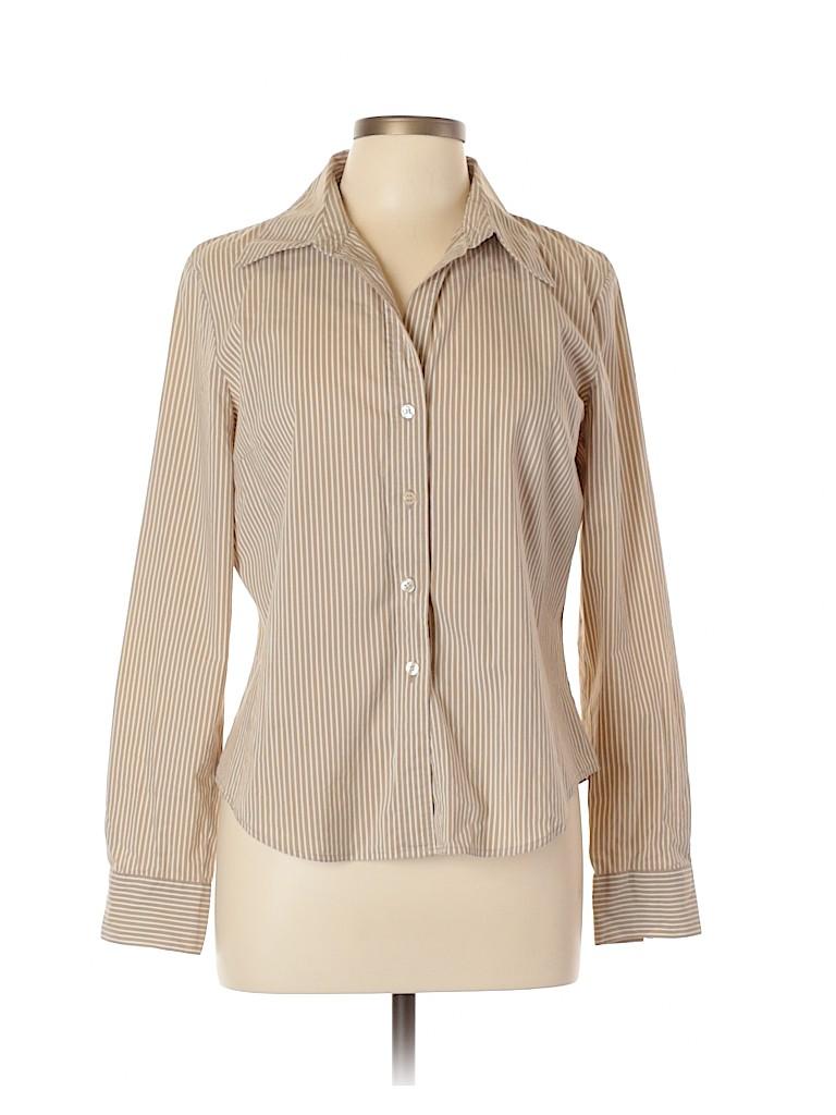 INC International Concepts Women Long Sleeve Button-Down Shirt Size 14