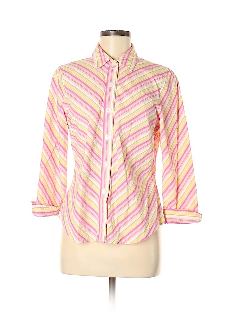 David Dart Women 3/4 Sleeve Button-Down Shirt Size M