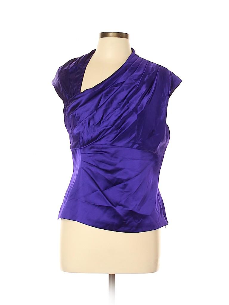 Karen Millen Women Short Sleeve Silk Top Size 12