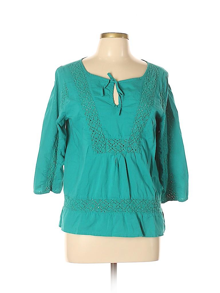 PrAna Women 3/4 Sleeve Blouse Size L