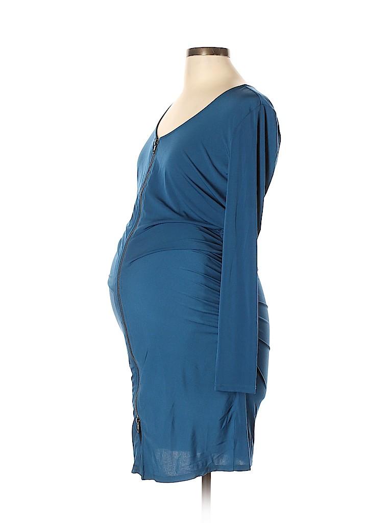 Rosie Pope Women Casual Dress Size L (Maternity)