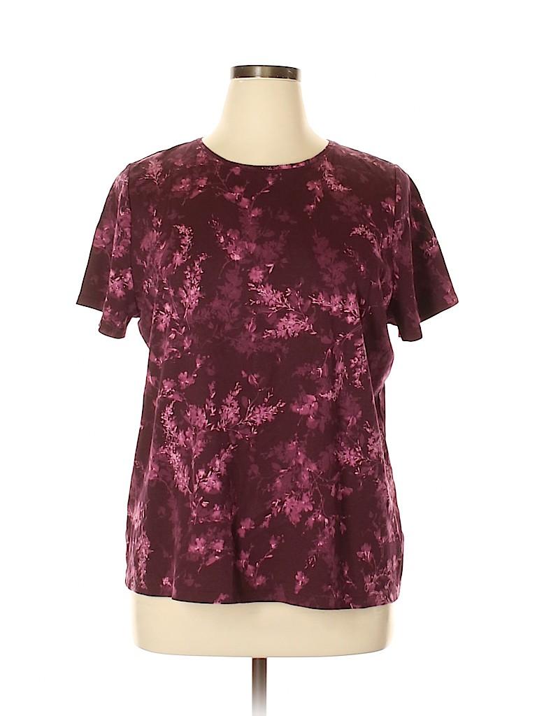 Croft & Barrow Women Short Sleeve T-Shirt Size 1X (Plus)