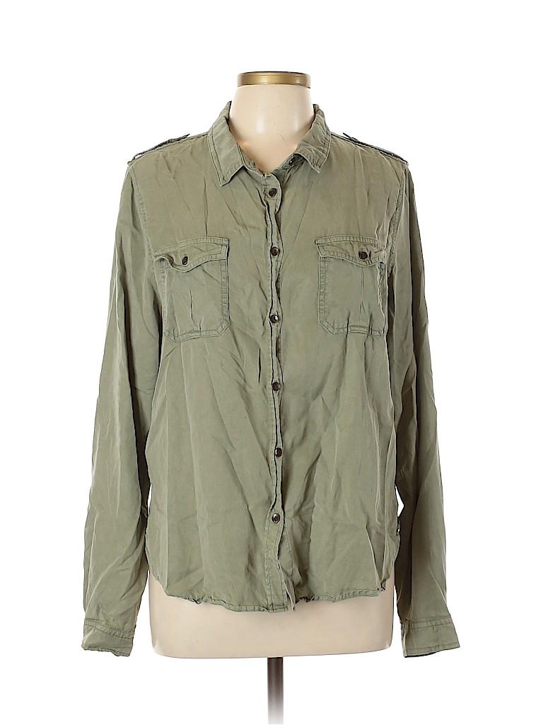 Universal Thread Women Long Sleeve Button-Down Shirt Size L
