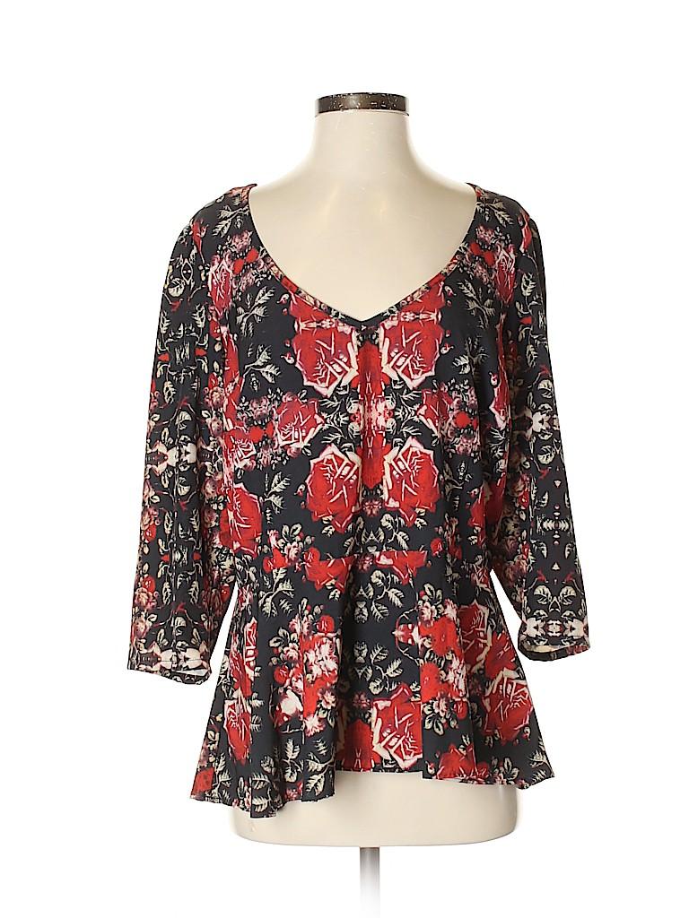 City Chic Women 3/4 Sleeve Blouse Size 10 (Plus)