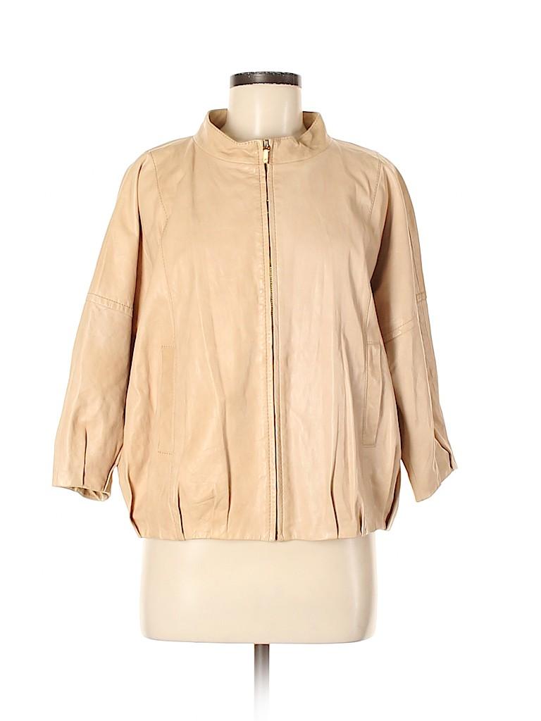 Tory Burch Women Leather Jacket Size 6