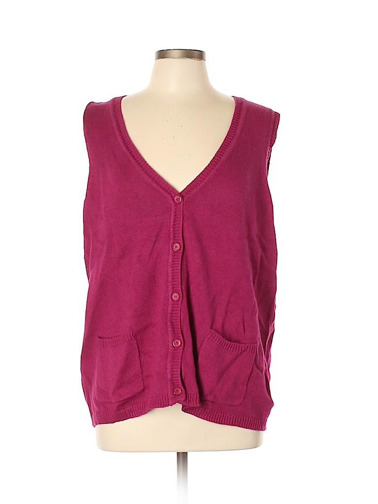 Blair Women Sweater Vest Size L