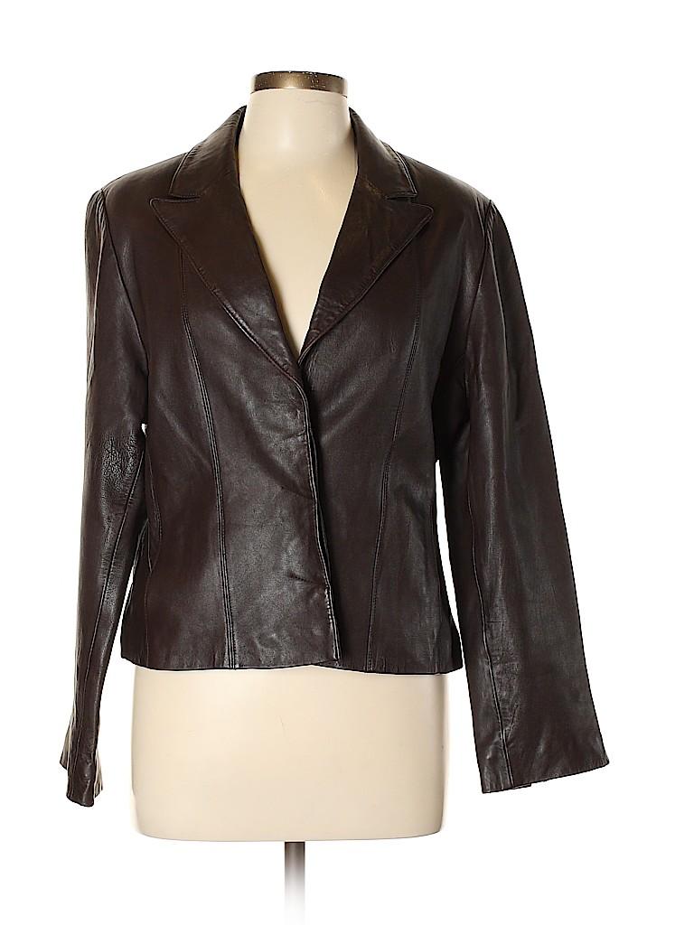 Croft & Barrow Women Leather Jacket Size M