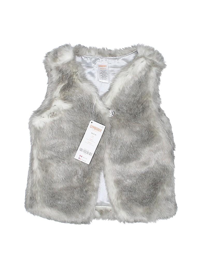 Gymboree Girls Faux Fur Vest Size 3 - 4