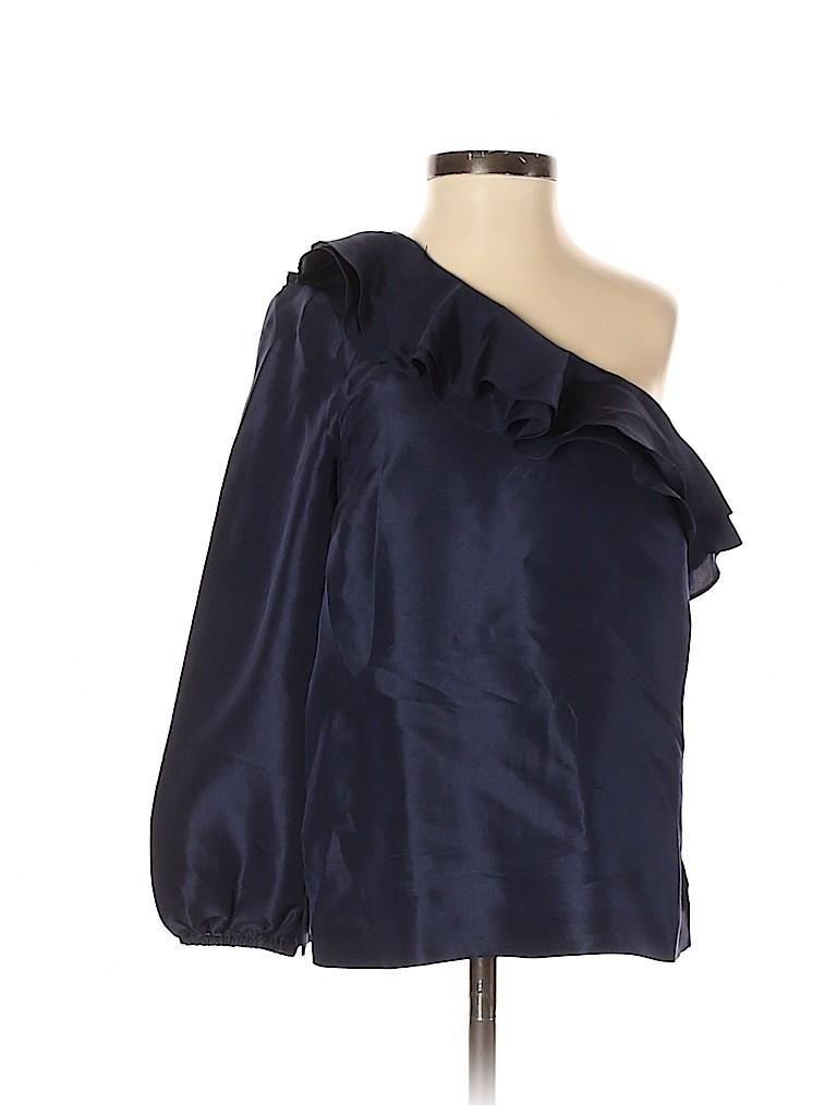 J. Crew Women Short Sleeve Silk Top Size 00