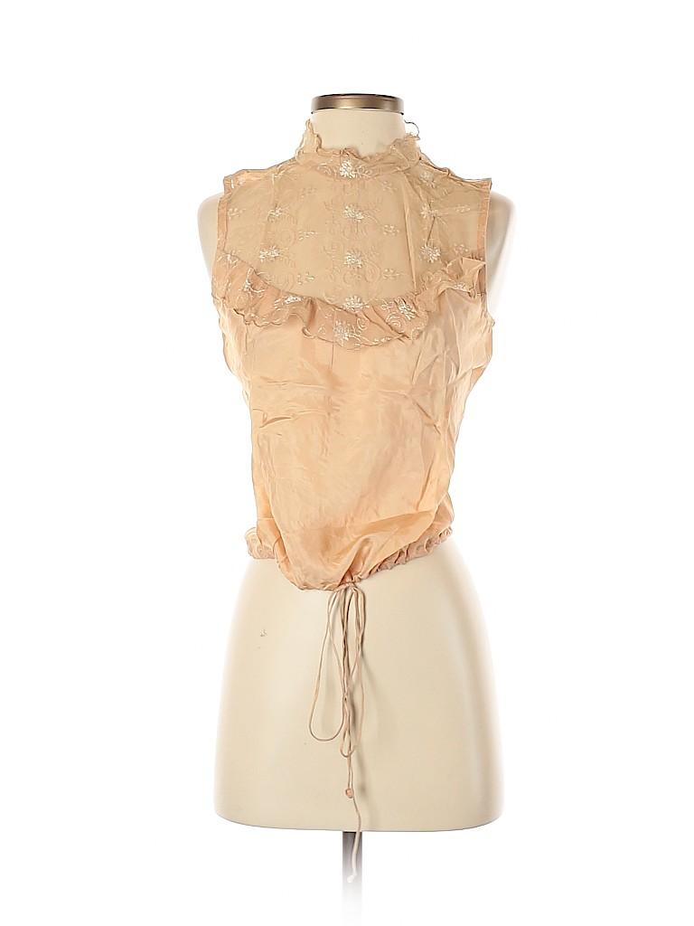 Tracy Reese Women Sleeveless Silk Top Size S