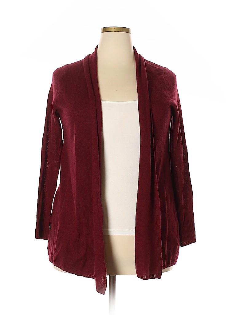 14th & Union Women Cashmere Cardigan Size 1X (Plus)