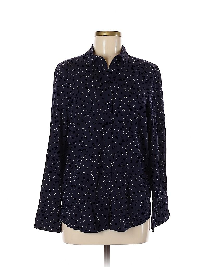 Topshop Women Long Sleeve Button-Down Shirt Size 6