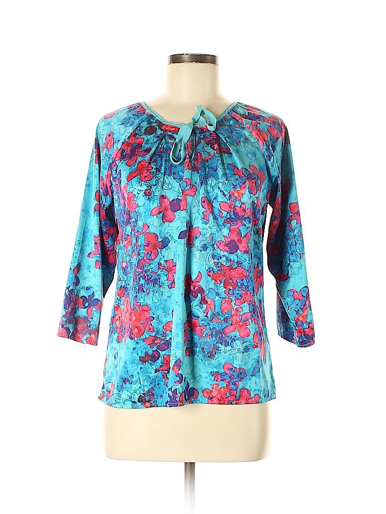 Willi Smith Women 3/4 Sleeve Blouse Size M