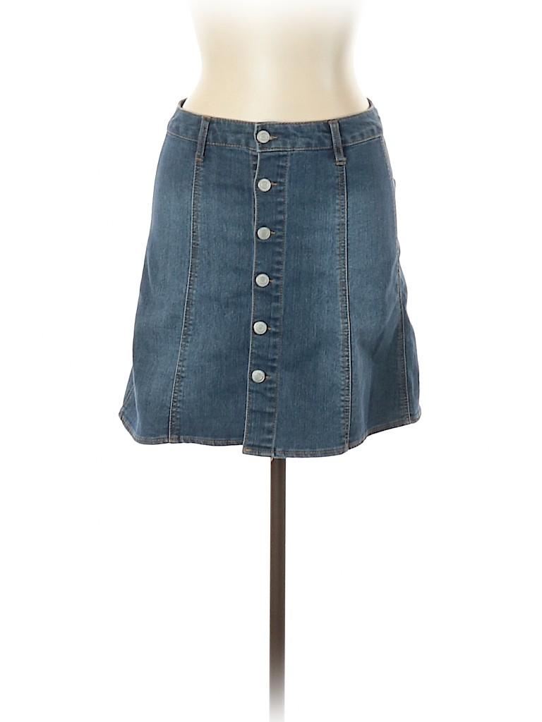 Mossimo Women Denim Skirt Size 10