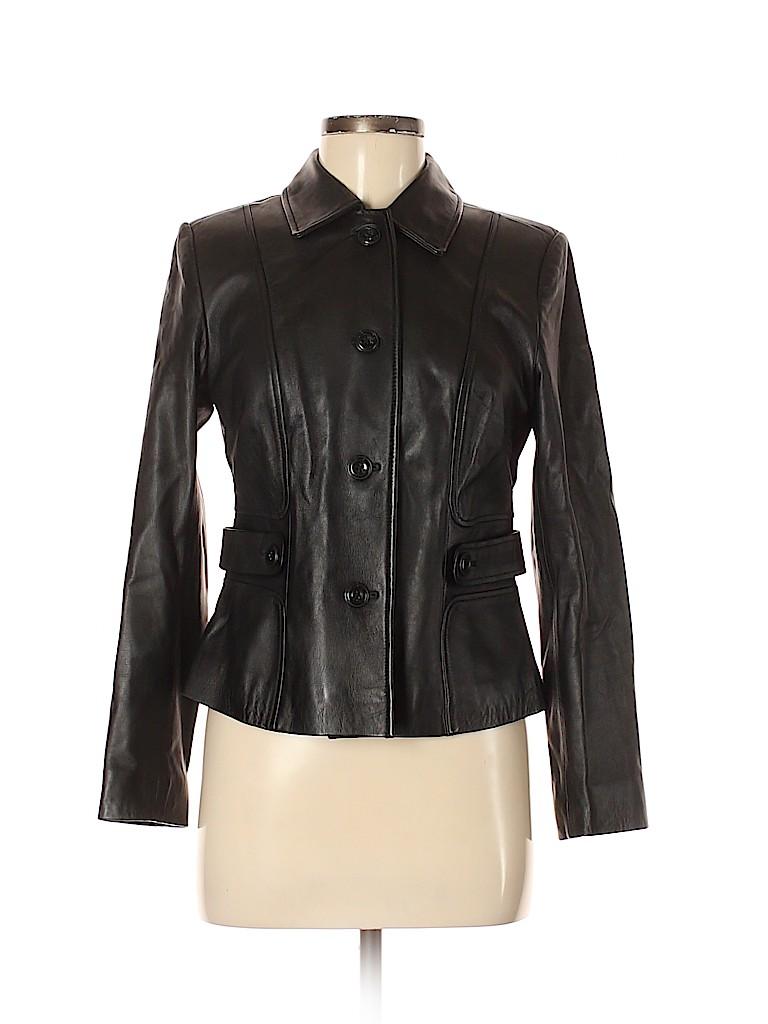 Ann Taylor LOFT Women Leather Jacket Size 8 (Petite)
