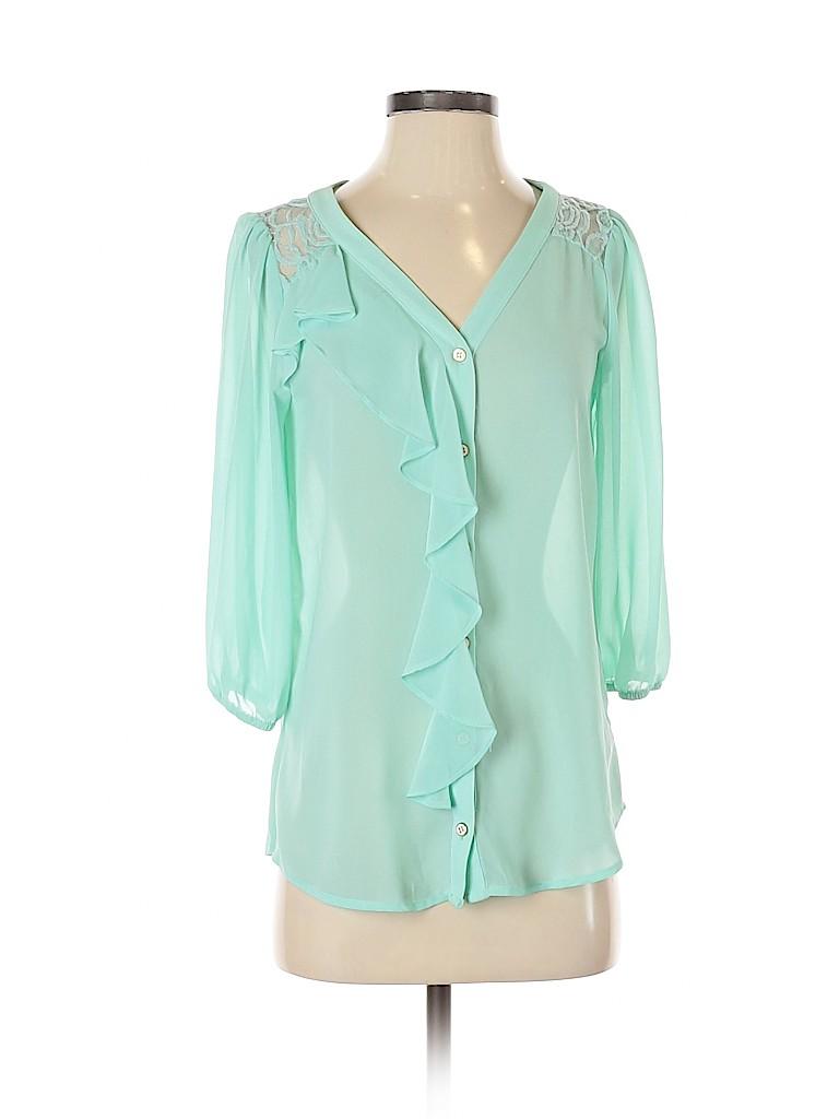 I.N. San Francisco Women 3/4 Sleeve Blouse Size S