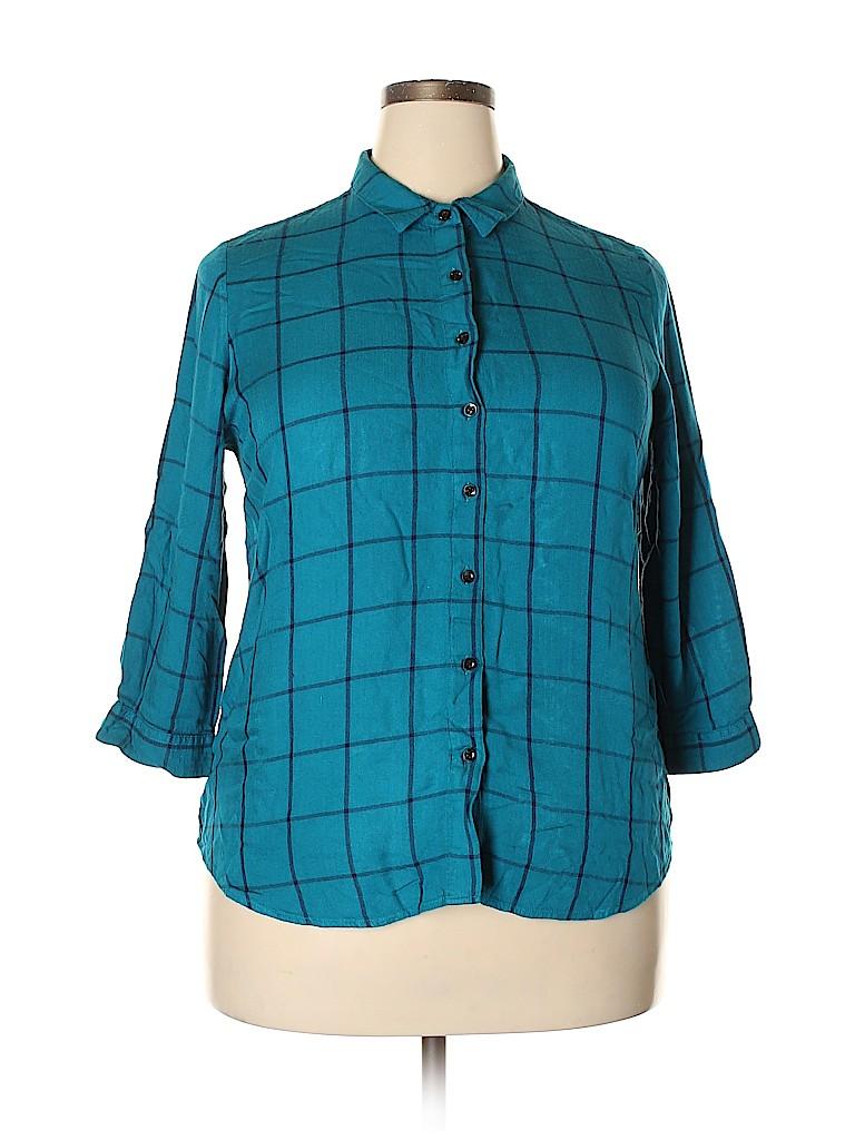 Assorted Brands Women 3/4 Sleeve Blouse Size XL