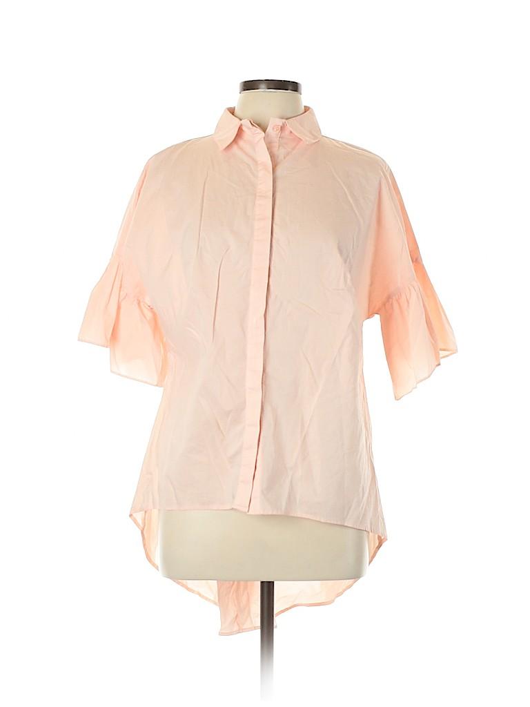 Ava & Viv Women Short Sleeve Button-Down Shirt Size XL