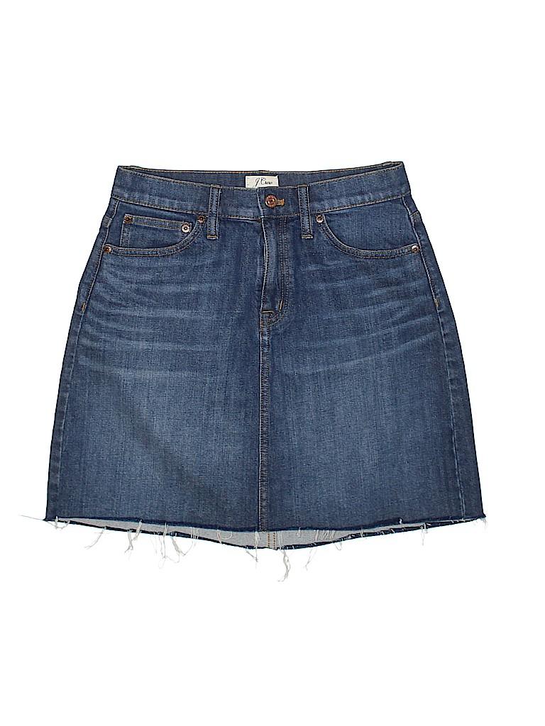 J. Crew Women Denim Skirt 25 Waist