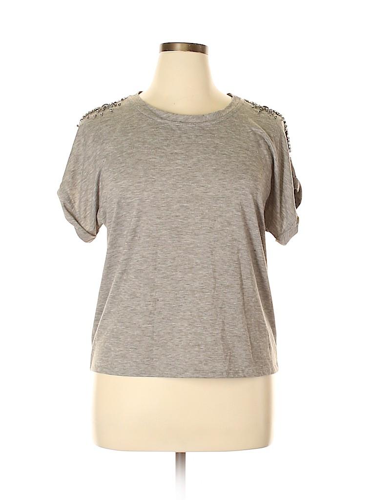 Sunday in Brooklyn Women Short Sleeve Top Size L