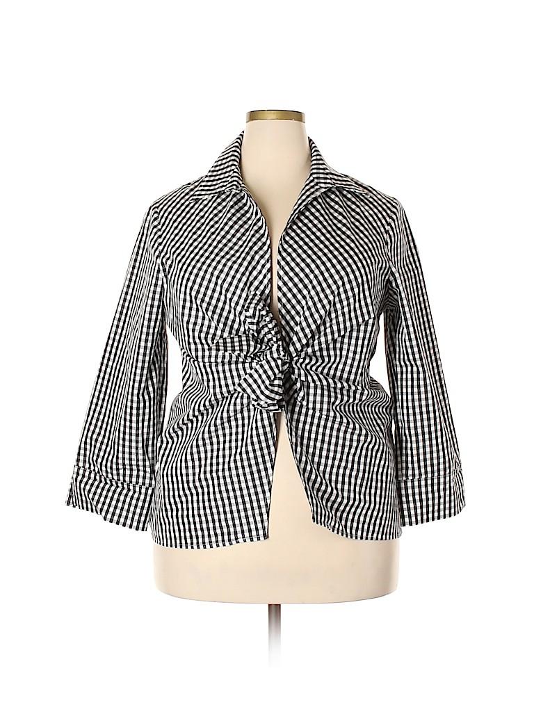 JM Collection Women 3/4 Sleeve Blouse Size 1X (Plus)
