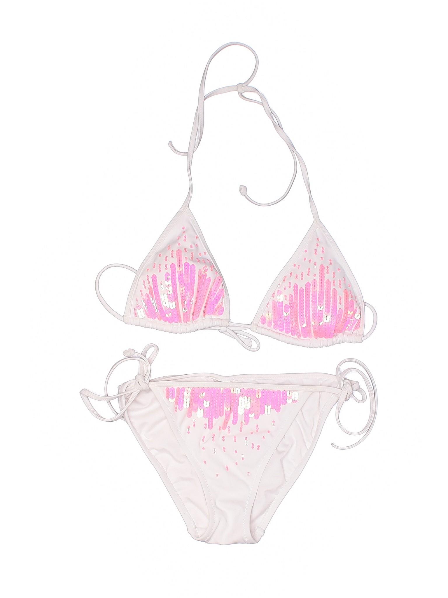 238e0243426e4 Details about Victoria's Secret Women Ivory Two Piece Swimsuit Sm Petite