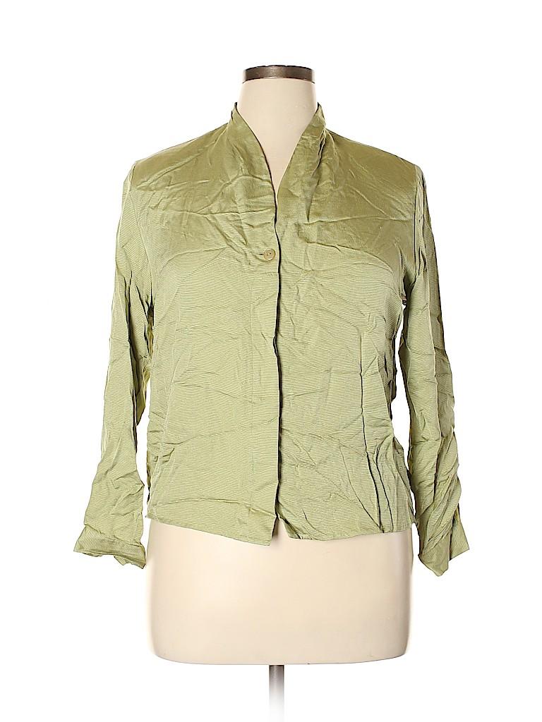 Pendleton Women Long Sleeve Silk Top Size 12 (Petite)