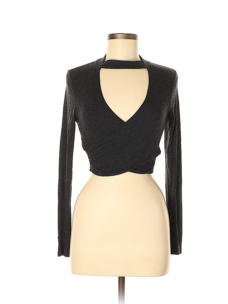 Solemio Women Long Sleeve Top Size M